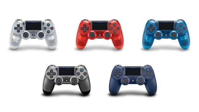 PS4 コントローラー デュアルショック4 スケルトン クリスタルに関連した画像-01