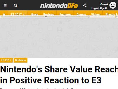 任天堂 ニンテンドースイッチ 株価 E3に関連した画像-02