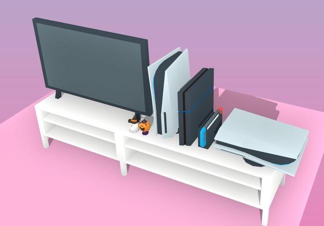 PS5 大きさ 比較 リビング テレビに関連した画像-08