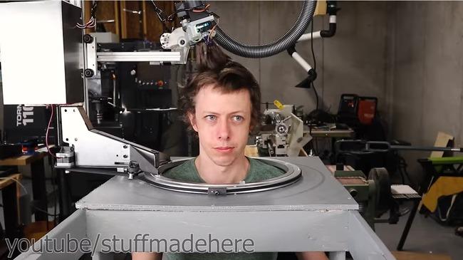 全自動 散髪 ロボット 自作に関連した画像-08