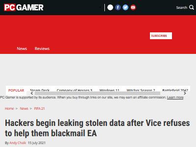 ハッカー ハッカー集団 身代金 要求 拒否 ゲーム会社 EAに関連した画像-02