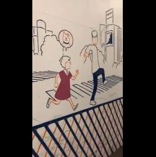 渋谷 工事中シャッター 絵に関連した画像-22