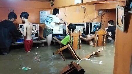 感電 漏電 フィリピン 台風 ネットカフェ 災害 PFS ゲーム 危険 に関連した画像-01