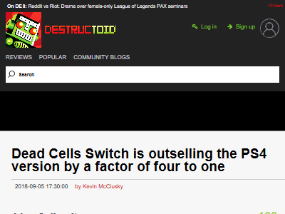 DeadCells ニンテンドースイッチ PS4 売上に関連した画像-02
