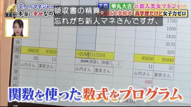 エクセル リケジョ 高学歴 電卓 SUM関数 マネージャー 吉本に関連した画像-05