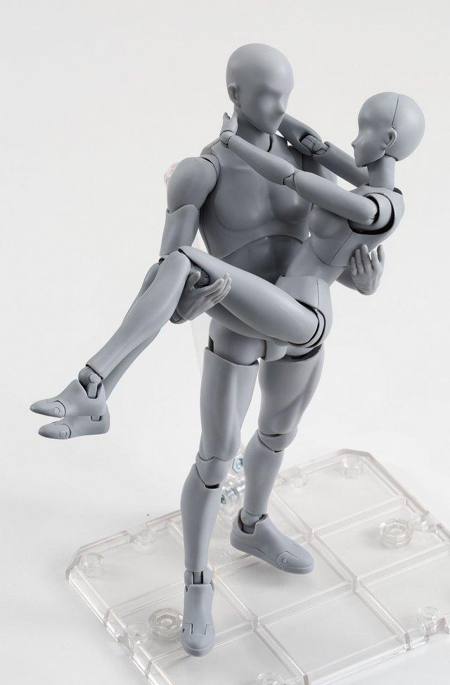絵師 フィギュア ボディくん ボディちゃん 可動 刀 銃 装備 ポーズに関連した画像-09