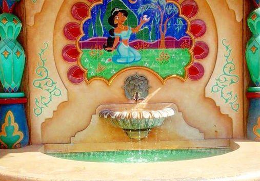 ディズニー インスタ映え アラビアンコースト シャスミン 噴水に関連した画像-01