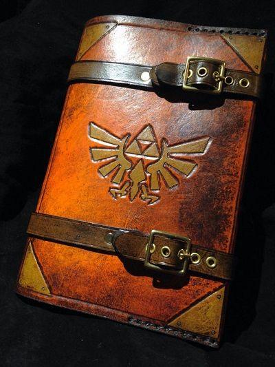 ゼルダの伝説 トライフォース ブックカバー 革製に関連した画像-03