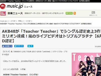 AKB48 トリプルミリオン 300万枚 史上3作品目に関連した画像-02