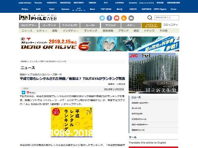 TSUTAYA 平成レンタルランキング 映画に関連した画像-02