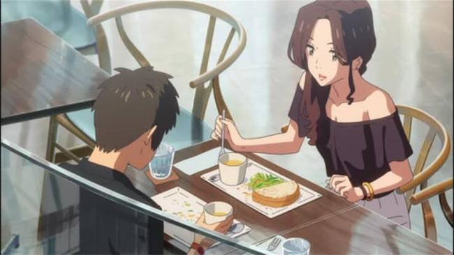 君の名は。 立花瀧 奥寺ミキ デート ソファー 食事 ペースに関連した画像-02