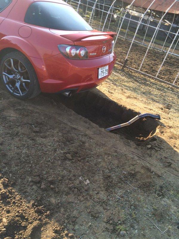 穴 車 整備 雨に関連した画像-05