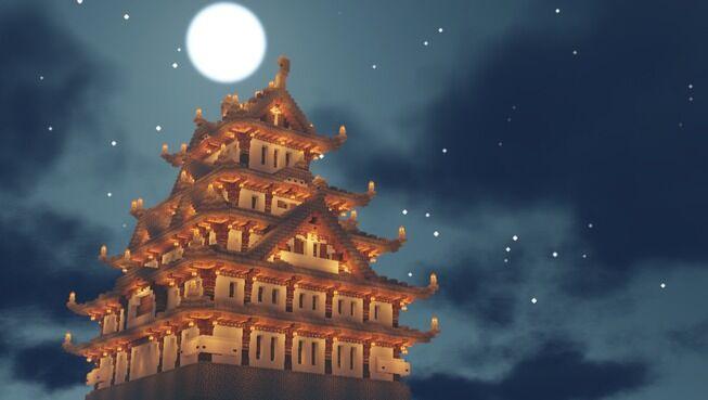 マインクラフト ハードコア 日本 城 クオリティに関連した画像-07