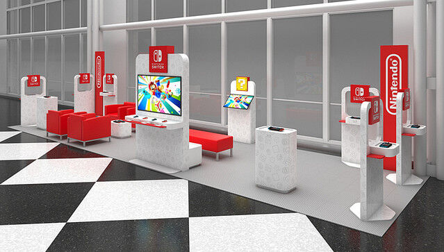 アメリカ空港任天堂ブース展開に関連した画像-03