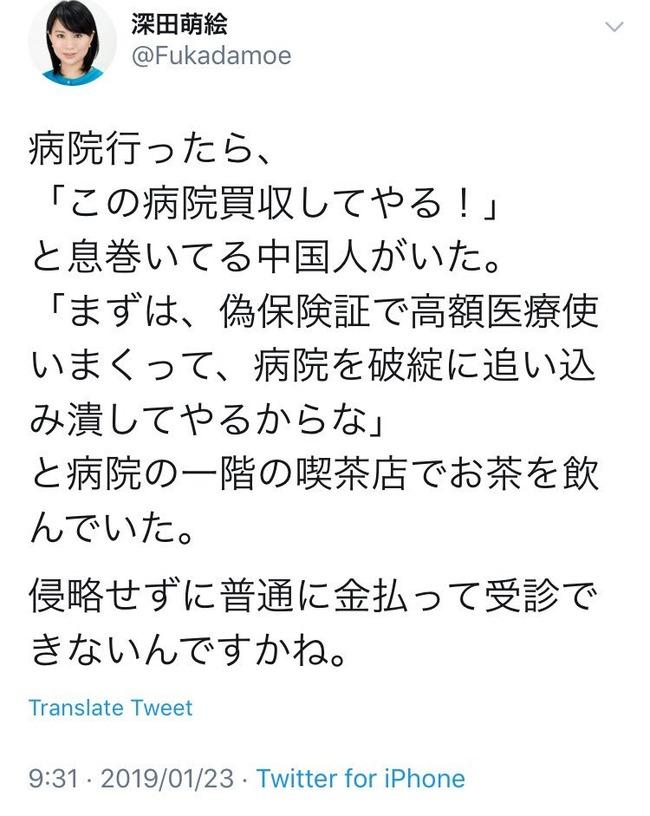 深田萌絵 中国人 嘘松 ネトウヨ 陰謀に関連した画像-06
