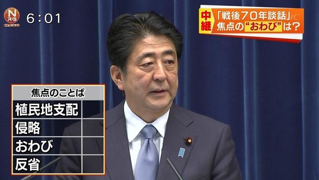 TBS 安倍首相 談話 チェックシートに関連した画像-01