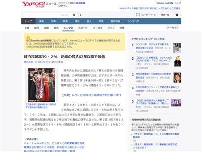 紅白歌合戦 視聴率 ラブライブ BUMP 小林幸子に関連した画像-02