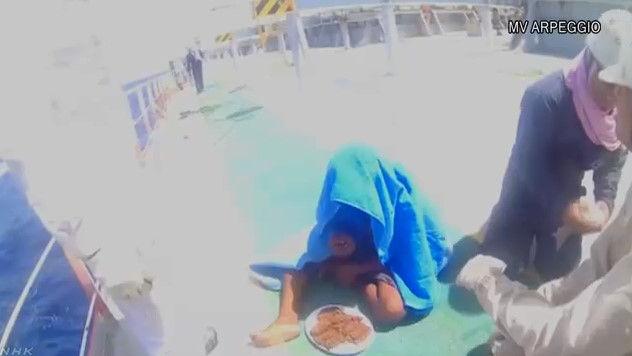 いかだ 遭難 漂流 救助 少年 魚 水分 食料に関連した画像-07