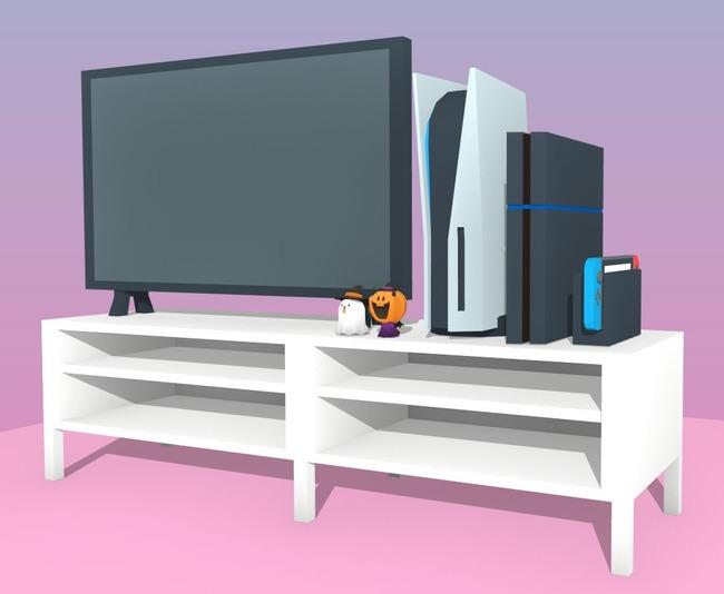PS5 大きさ 比較 リビング テレビに関連した画像-07