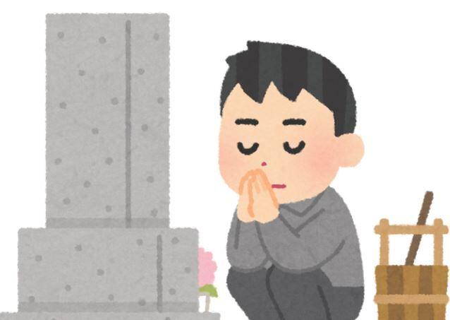 お墓参り お盆 熱中症 僧侶 墓石に関連した画像-01
