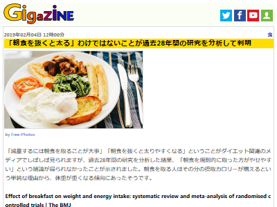 朝食 ダイエット 太る 研究に関連した画像-02