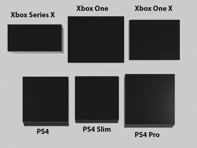 XboxSeriesX 他ハード サイズ比較に関連した画像-03