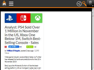 PS4 ニンテンドースイッチ XboxOne 売上に関連した画像-02