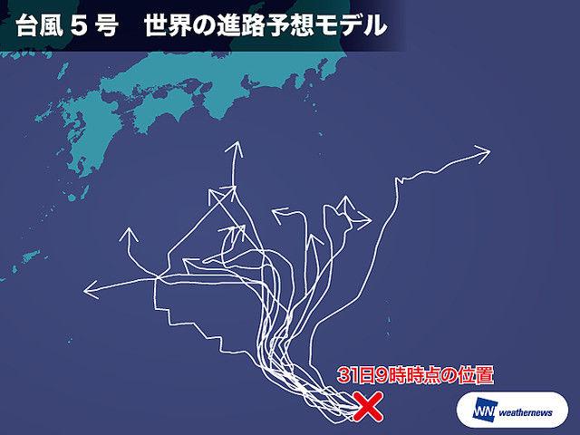 台風5号 予想進路 13パターンに関連した画像-03