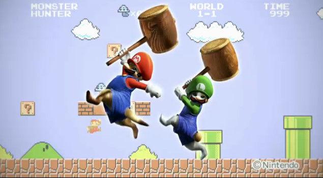 【速報】3DS『モンスターハンター4』がマリオとのコラボ決定!オトモアイルーがマリオとルイージになるぞ!!
