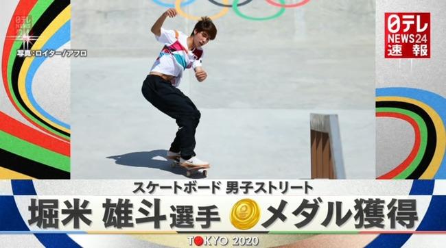 東京五輪 スケートボード 男子ストリート 堀米雄斗 金メダル 初代王者に関連した画像-01