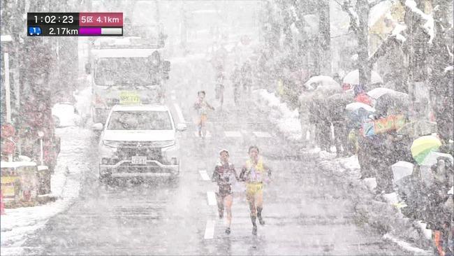 全国女子駅伝 雪 大雪 NHKに関連した画像-06