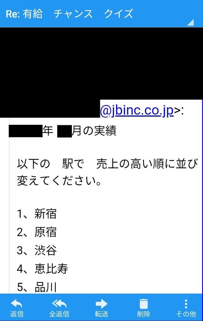 ジャパンビバレッジ サントリー ブラック企業 有給 クイズ 降格 有給チャンス 支店長 に関連した画像-02