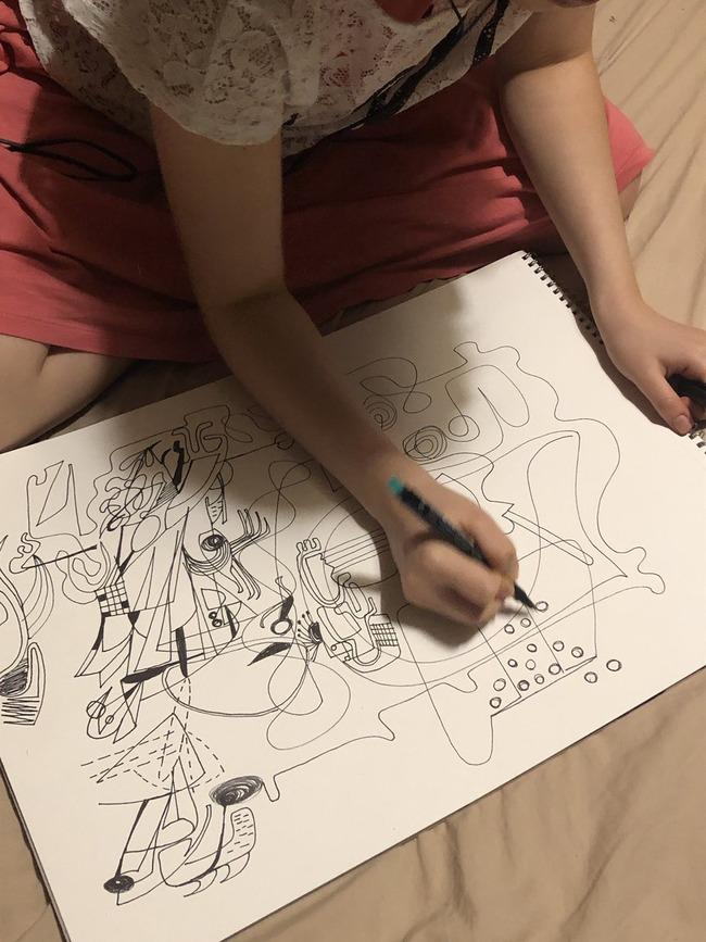 絵 ストレス 発散 女子 天才に関連した画像-04