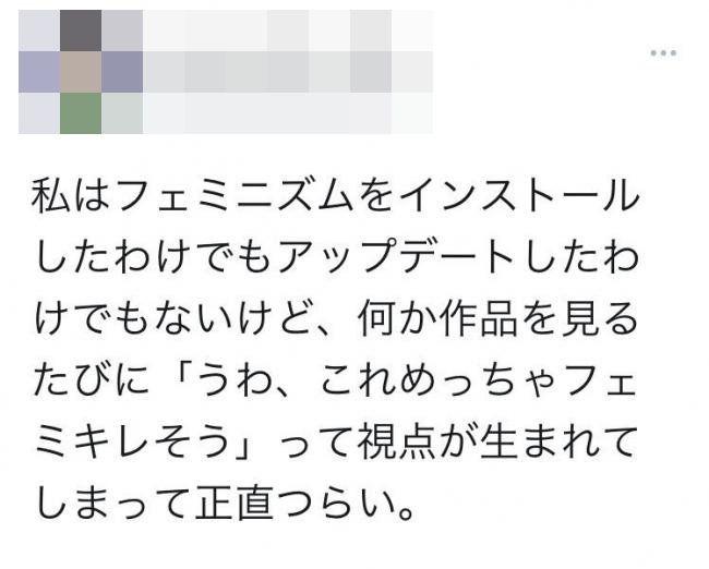 フェミニスト フェミニズム アニメ オタク 思想 嫌悪感に関連した画像-02