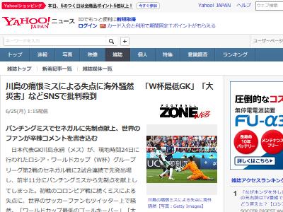 サッカー 日本代表 ゴールキーパー 川島 批判 酷評に関連した画像-02