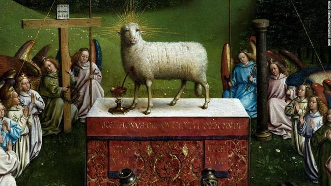 絵画修復 子羊 不気味に関連した画像-04