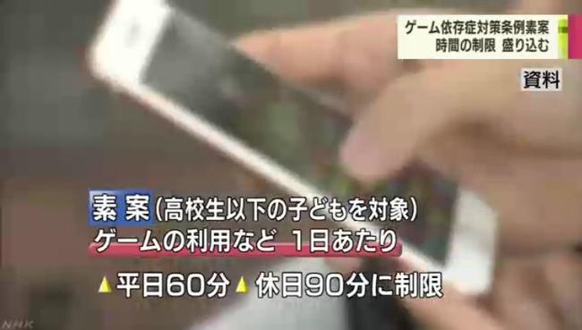 香川県 子ども 1日1時間 ゲーム 夜間 利用 制限 条例 検討に関連した画像-06