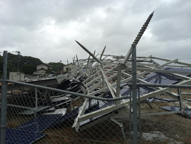 台風 九州 手抜き 太陽光発電に関連した画像-01