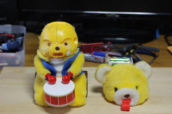 太鼓 クマのおもちゃ 改造 高速 モーターに関連した画像-04