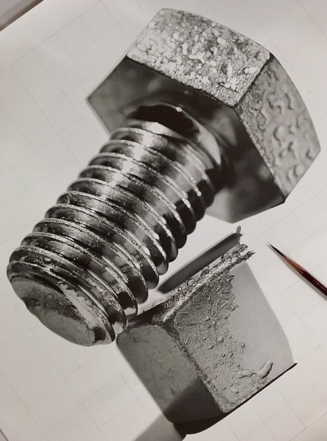 鉛筆画 えんぴつ ボルト イラストに関連した画像-02