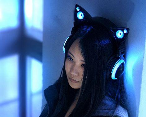 ヘッドホン ネコ耳 猫耳 プロトタイプ 動画 スピーカー LED Axent Wearに関連した画像-01