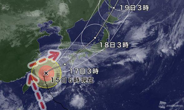 台風18号 日本 急カーブに関連した画像-01