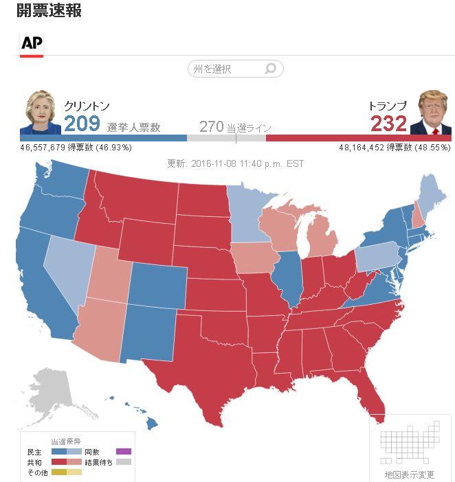 アメリカ 有力 メディア 有力紙 クリントン トランプに関連した画像-03