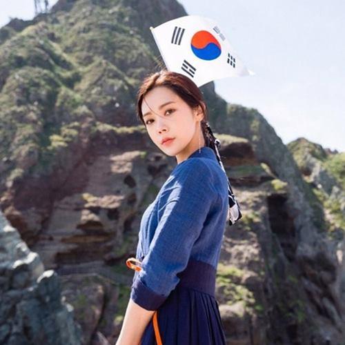 韓国 女優 リジ 竹島 独島 挑発に関連した画像-03