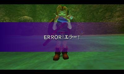 ゼルダの伝説 ムジュラの仮面 ERROR!エラー!強制終了 バグ に関連した画像-04