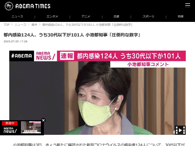 東京 新型コロナウイルス 感染者 小池百合子 都知事に関連した画像-02