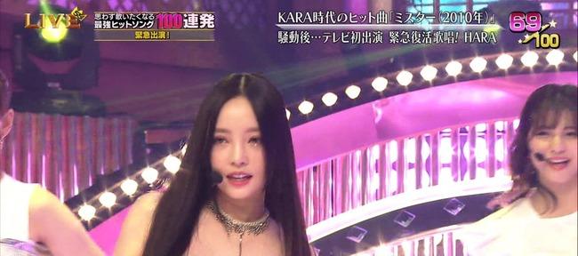 テレ東音楽祭2019 KARA HARA 放送事故 生放送 衣装に関連した画像-02