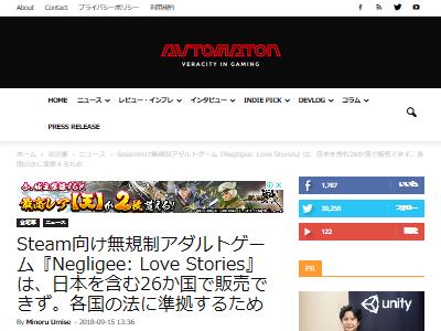 Steam 無修正 アダルトゲーム 日本 発売 販売 Negligeeに関連した画像-02
