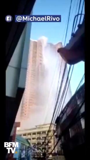 フィリピン マニラ 高層ビル 屋上 プール 地震 滝に関連した画像-02