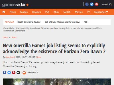 ホライゾン2 ゲリラゲームズ 求人に関連した画像-02